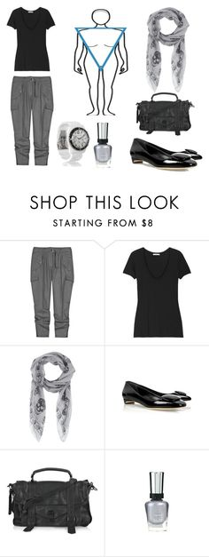 """""""Inverted Triangle/Natural/Spring Summer"""" by kittyfantastica ❤ liked on Polyvore featuring STELLA McCARTNEY, James Perse, Alexander McQueen, Rupert Sanderson, Proenza Schouler, Michael Kors, white, grey, black and inverted triangle"""