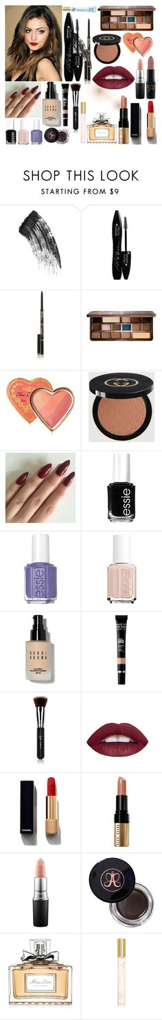 """Dianna Cunningham's Makeup"" by cartoonscatsxx ❤ liked on Polyvore featuring beauty, Charlotte Tilbury, Lancôme, Anastasia Beverly Hills, Too Faced Cosmetics, Gucci, Essie, Bobbi Brown Cosmetics, MAKE UP FOR EVER and Sigma Beauty"
