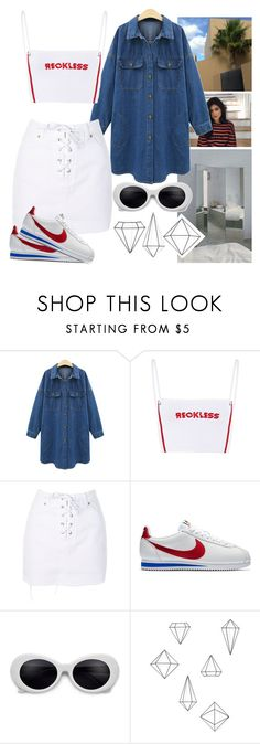 """Untitled #1495"" by oshonsparkles ❤ liked on Polyvore featuring Topshop, NIKE and Umbra"