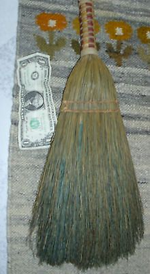 "Primitive Broom 18"" Shaker Style Antique Braided Short handle Whisk"