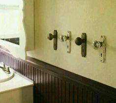 Recycled door handles for towel hangers x
