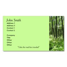 Forest Business Cards. This is a fully customizable business card and available on several paper types for your needs. You can upload your own image or use the image as is. Just click this template to get started!