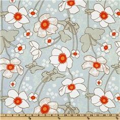 Wallpaper White Eyed Susan Blue - Saw this at the store, it's pretty.  The blue is more robin's egg.