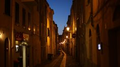 Historic centre at night Alghero, Sardinia, Italy Alghero, Sardinia Italy, Street Lamp, Mediterranean Sea, Italy Travel, Dusk, Great Places, Centre, Medieval