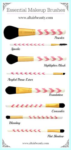 Essential Makeup Brushes from Altair Beauty! http://www.amazon.com/Makeup-Brushes-Professional-featuring-Highlight/dp/B00GJ4X3MI/ref=sr_1_71?ie=UTF8&qid=1411897241&sr=8-71&keywords=makeup+brushes+set