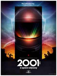 2001: A Space Odyssey poster concept from James White of SignalNoise. Love it!