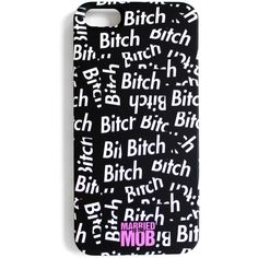 BITCH STICKER iPHONE 5 CASE ($20) ❤ liked on Polyvore featuring accessories, tech accessories, phone cases and phones