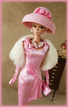 fashion doll, pink dress, OOAK Fashions for Silkstone / Vintage barbie / Fashion Royalty -- With ZIPPER Barbie I, Vintage Barbie Dolls, Barbie World, Barbie Dress, Barbie And Ken, Barbie Clothes, Pink Dress, Barbie Fashion Royalty, Fashion Dolls