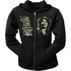 Bob Marley - One Love Black Juniors Zip Hoodie