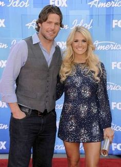 Carrie Underwood and Mike Fisher Carrie Underwood American Idol, Carrie Underwood Mike Fisher, Carrie Fisher, Star Watch, Cutest Couples, Couple Style, Power Couples, Fashion Couple, Beautiful Couple