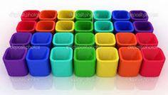 potinhos quadradinhos coloridos (104 pieces)