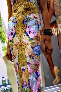 Gorgeous fabric!!.. Roberto Cavalli <3