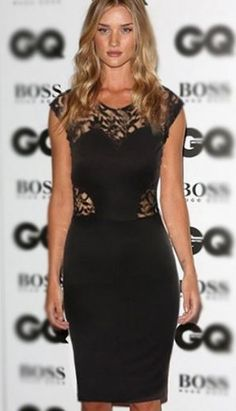 Love Love Love this Dress! Love the Lace Back! Sexy Black  Lace Hollow-out BodyCon Party Dress #Sexy #Black #Lace #LBD #Party #Dress #BodyCon #Fashion