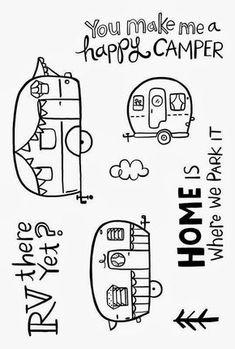 Courtney Lane Designs: Wild Card 2 Happy Camper card