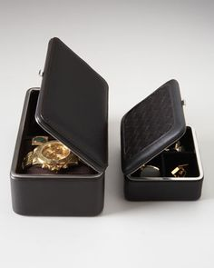 Men's Leather Jewelry Cases by F. HAMMANN at Horchow.  Good idea for my hubby.