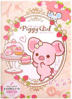San-x Piggy Girl Berry Cake B5 Notebook