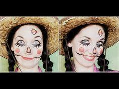 Scarecrow Halloween Face Makeup