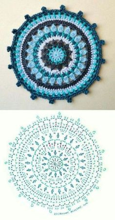 Transcendent Crochet a Solid Granny Square Ideas. Inconceivable Crochet a Solid Granny Square Ideas. Motif Mandala Crochet, Crochet Circles, Crochet Motifs, Crochet Diagram, Crochet Chart, Crochet Squares, Crochet Stitches, Crochet Doilies, Mandala Rug