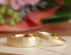 槌目ゴールドの結婚指輪(オーダーメイド/手作り) [マリッジリング,K18,Gold,ダイヤモンド,marriage,wedding,bridal,ring,ブライダル,ウェディング]