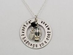 My Heart Belongs To A Coal Miner Hand Stamped Coal Miner Necklace Coal Miner's Wife Necklace Coal Mining Necklace Coal Miners Daughter on Etsy, $30.00