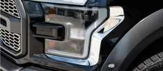 2017 Ford Raptor - Headlight Trim Stainless steel trim for your Ford Raptor's headlights. Premium quality, American made and it installs easily.