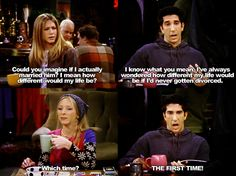 Ross and his many divorces :)