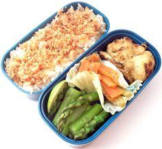 Bento no. 19: Salmon furikake and frozen tofu nuggets