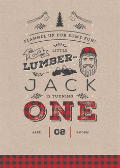 a lumberJACK first birthday party – Craftiness Is Not Optional