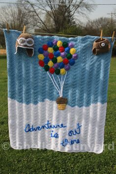 This blanket started by me needing a gift set. Mom to be had mentioned she liked the UP movie and some of the items for the nursery. So me and my grand ideas saw a poster online that I loved. I als...