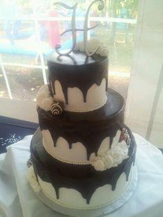 Ganache and butter cream wedding cake