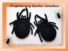Halloween Spider Coasters   Crochet   CraftGossip   Bloglovin
