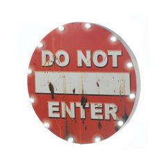 """FREE SHIPPING in November! This vintage-looking road sign will light up your room with vintage style. Bulbs powered by two AA batteries (not included) surround the wooden sign. Great for your game room! 2 """"AA"""" batteries not included.</p>"""