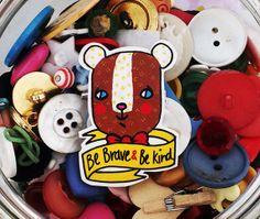 Woodland Bear Shrink Plastic Brooch - Made To Order by Rose Hudson