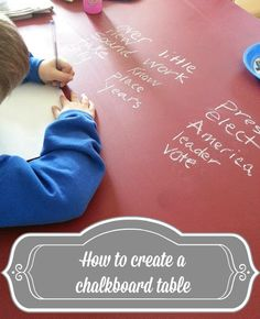 Creating a chalkboard table is not only affordable and easy, but super fun too!