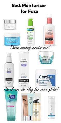Moisturizers to Help Every Skin Type for Clear Skin 2019 Best Moisturizers for face dry skin,anti aging and combination skin Best Moisturiser For Face, Moisturizer For Oily Skin, Oily Skin Care, Moisturizer For Combination Skin, Natural Facial Cleanser, Best Drugstore Face Moisturizer, Oily Skin Makeup, Homemade Face Moisturizer, Skincare For Oily Skin