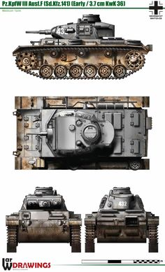 PzKpfw III Ausf. F (Early)(Sd.Kfz. 141)(37mm KwK 36)