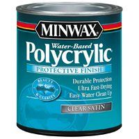 Minwax Polycrylic at Lowe's Canada - sealer for kitchen cabinets