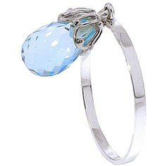 Blue Topaz Crown Briolette Ring 3.0ct in 9ct White Gold: Setting: 1 x 2 mm (0.1 x 0.1 in). Handcrafted in… #UKOnlineShopping #UKShopping