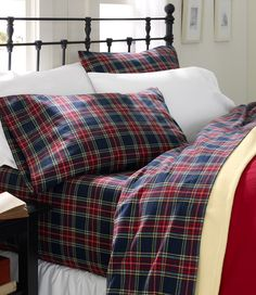 L.L. Bean flannel plaid sheets. Need a set for the winter. Makes me want to cuddle up with baby and hubby..