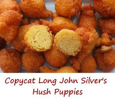 Long John Silvers Hush Puppies Long John Silvers Fish Batter recipe is perfect f. - Long John Silvers Hush Puppies Long John Silvers Fish Batter recipe is perfect for fish, and so muc - Fish Recipes, Seafood Recipes, Appetizer Recipes, Cooking Recipes, Appetizers, Recipies, Cooking Corn, Cooking Pumpkin, Cooking Fish