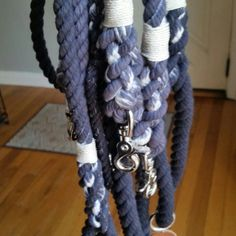 Pearl Grey Ombre Dog Leashes