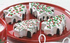 Χριστουγεννιάτικα μπράουνις σοκολάτας