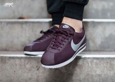Nike Classic Cortez Leather (Mahogany / Metallic Silver - White) | asphaltgold