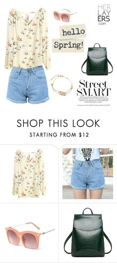 """""""Street Smart Pastel Casual Outfit"""" by herlayers on Polyvore"""