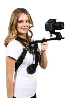 Amazon.com : Cam Caddie Scorpion Ex Hands Free Shoulder Support Rig Compatible with Nikon, Canon, Sony DSLR, iPhone & More (0CC-0100-SS) : Camera & Photo