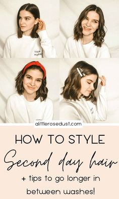 Washing your hair everyday is super damaging and strip your hair of it& natural oils. It can be a challenge to stop washing everyday. Here are my best tips Medium Hair Styles, Curly Hair Styles, Natural Hair Styles, Mohawk Hairstyles, Straight Hairstyles, Short Hair Hacks, Second Day Hairstyles, Healthy Hair Tips, Monat Hair