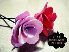 Flores | Manualidades con Foamy | Todo sobre las manualidades de foamy, foami o goma Eva