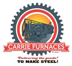 Carrie Furnaces Scale Car illustration.