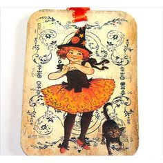 Cute Little Witches (€5,14) ❤ liked on Polyvore featuring home, home decor and holiday decorations