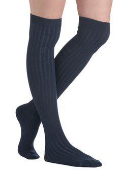 Basically Amazing Socks in Navy, #ModCloth